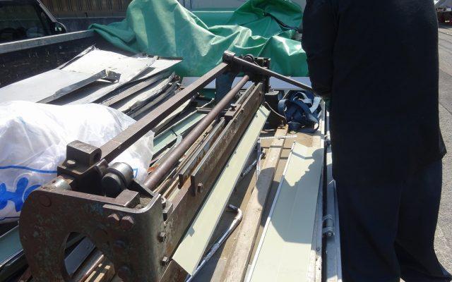 屋根材現場加工