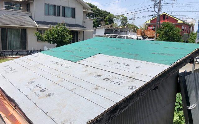 物置屋根交換工事①
