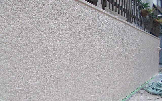 擁壁塗装完成