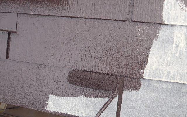 屋根下塗り・中塗り