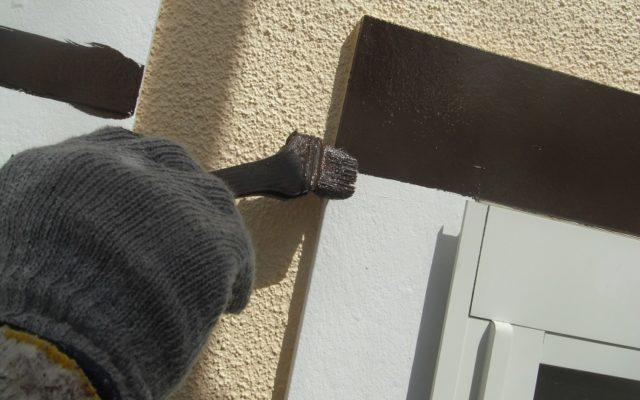 窓廻り飾り塗装