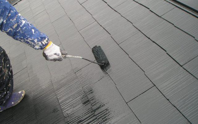 屋根中・上塗り