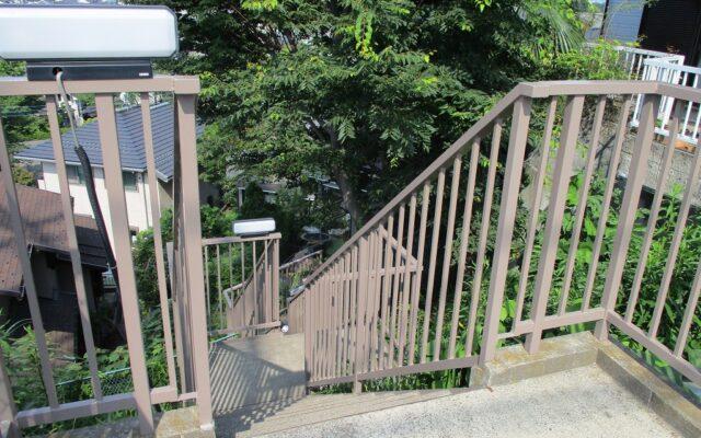 階段塗装完成