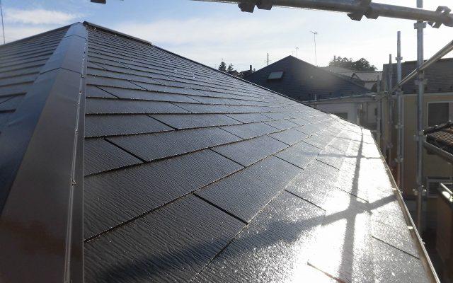 屋根仕上げ3回塗り