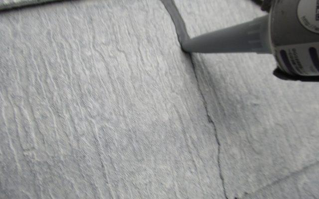 屋根下塗り・クラック補修