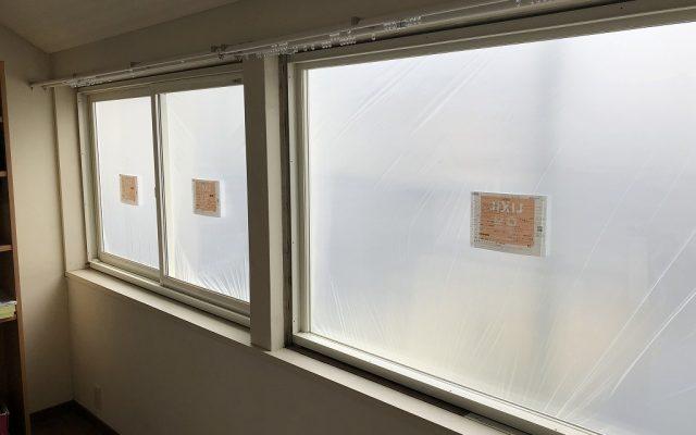 室内窓枠設置後