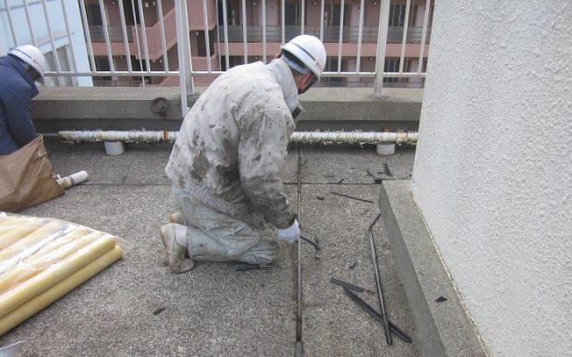 屋上防水下地処理
