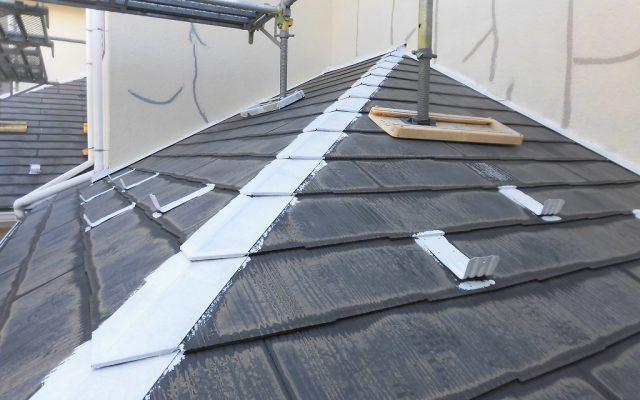 屋根鉄部サビ止め