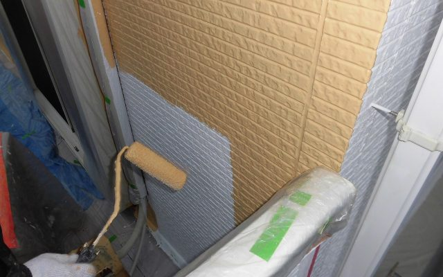 外壁2階仕上げ3回塗り