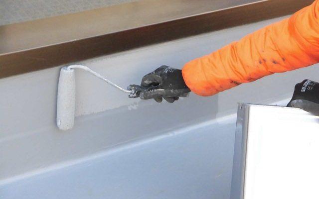 屋上保護トップコート塗装仕上げ