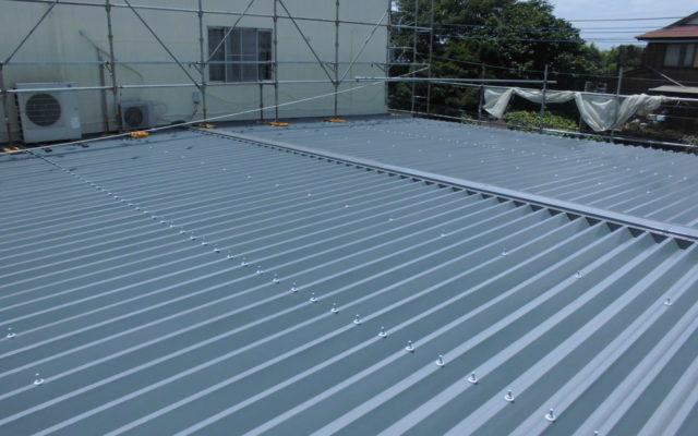 屋根上塗り・完成