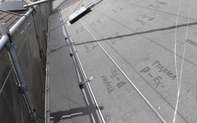 屋根ルーフィング本体施工