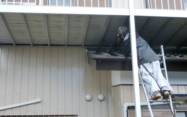 高圧洗浄機による雨漏りテスト