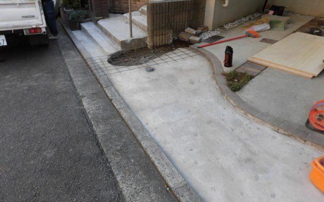 駐車場入口解体後