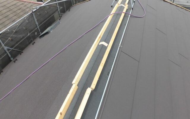 屋根貫板換気棟施工