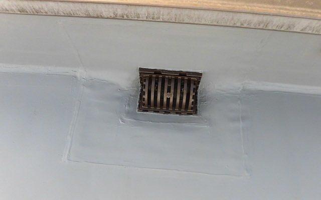 屋上排水口処理仕上げ