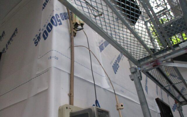 外壁防水シート貼り