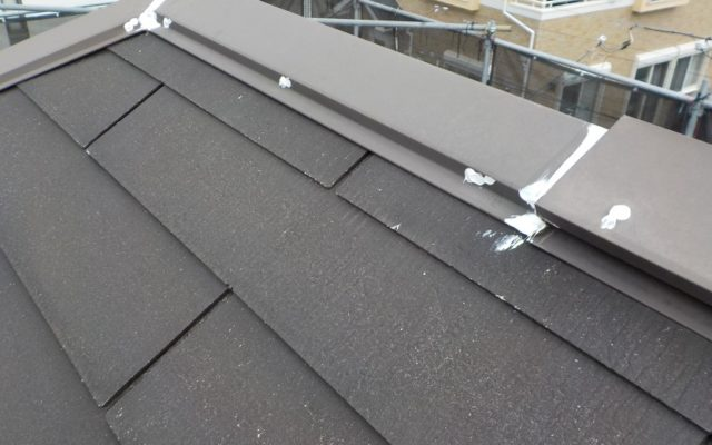 屋根 釘頭シール処理