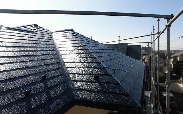 屋根中塗り・仕上げ