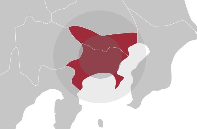 地図:神奈川・東京